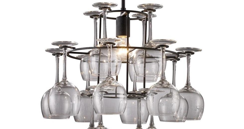 wine clear glass chandelier light june 2015