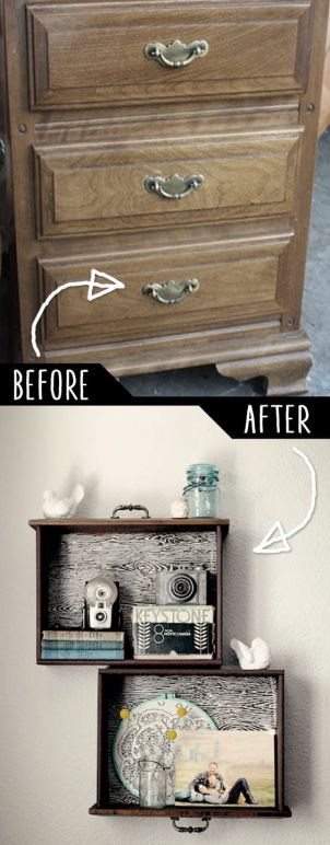 Drawers are great for holding all sorts of things, but who says they have to be confined to the dressers they came in?