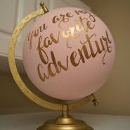 Sure, the globe lost most of it's practicality, but this makeover turned it into a fabulous decoration!