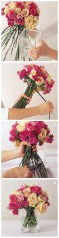 how to make a rose boquet