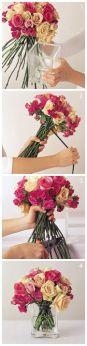 how to make a rose boquet