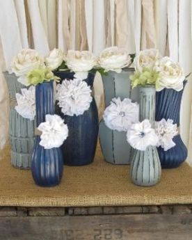 upcycled wedding vases
