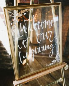 wedding frame sign