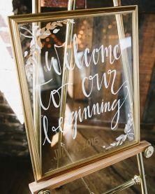 wedding frame sign