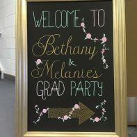 grad party sign